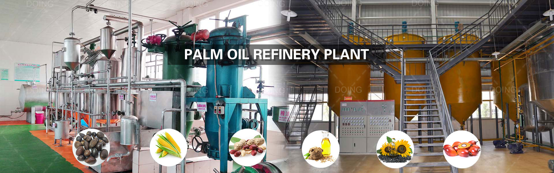 Mini palm oil refinery plant