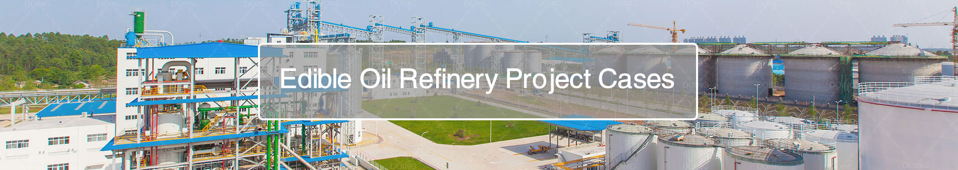 Turnkey project of palm oil refinery plant