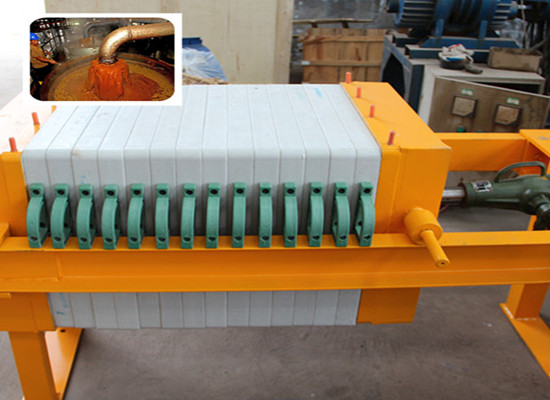 Palm oil filter equipment - plate and frame filter presser