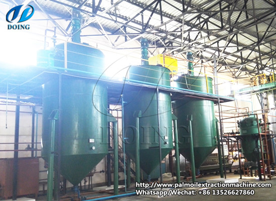 Batch type palm kernel oil refinery plant