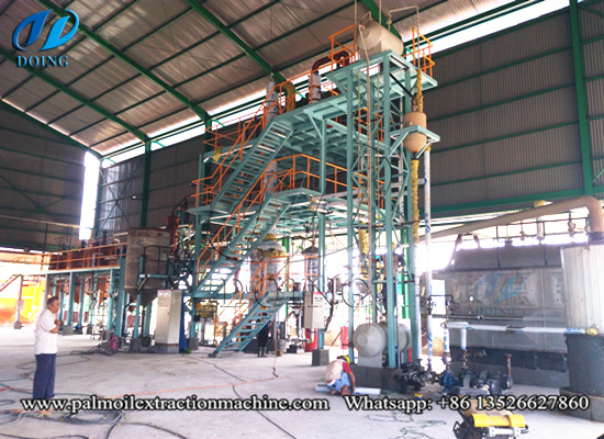 Indonesia 5tpd palm oil refinery plant successfully installed video