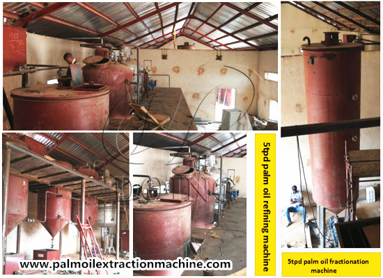 Nigeria 5tpd palm oil refinery and fractionation plant is under installation