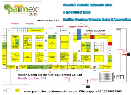 Doing Company will attend the PALMEX Indonesia 2019 in Medan on 8-10 October 2019