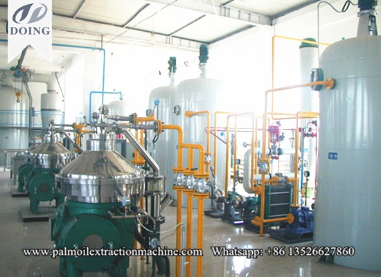 Palm oil refining process machinery