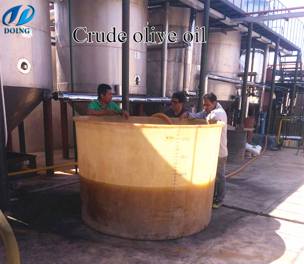 crude olive oil refinery plant