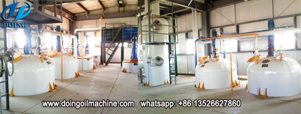 semi-continuous palm oil refinery plant