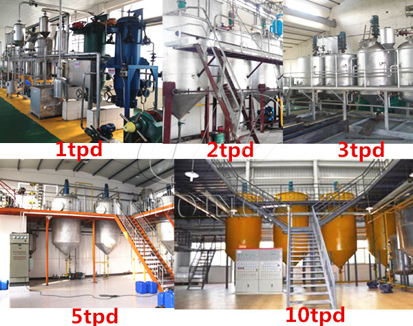 batch type palm oil refinery plant